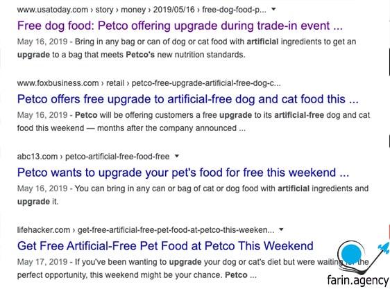 ریپورتاژ آگهی Petco's Event