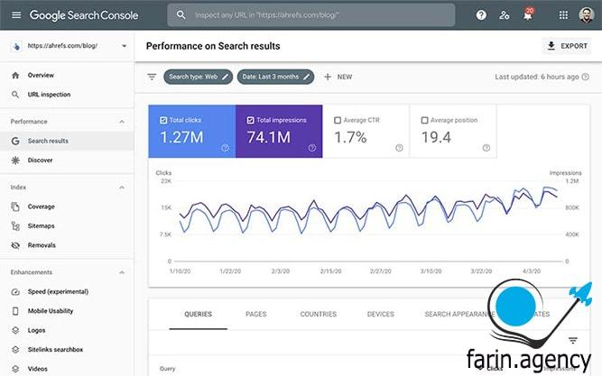 ابزارهای بررسی سئوGoogle Search Console