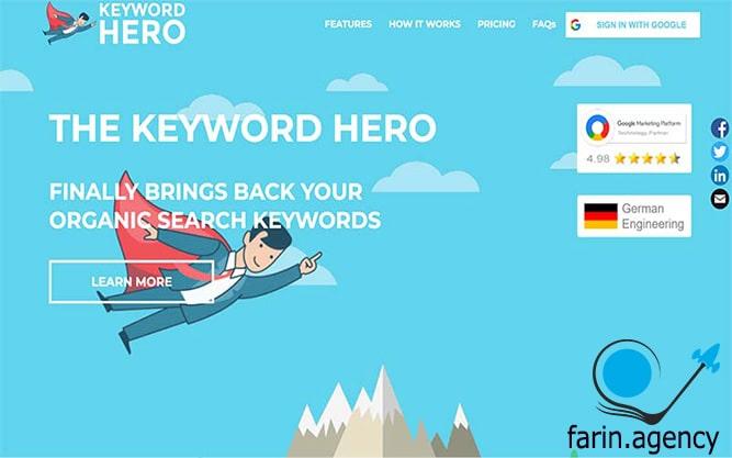 ابزارهای بررسی سئو Keyword Hero