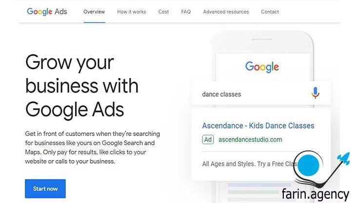 کمپین های گوگل ادوردز