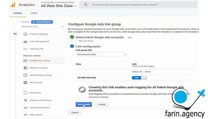 تنطیمات کمپین گوگل ادوردز